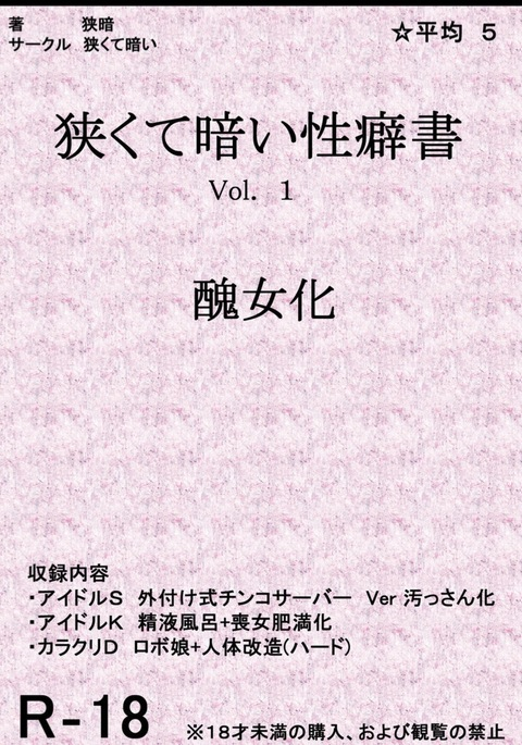 Book about Narrow and Dark Sexual Inclinations Vol.1 Uglification